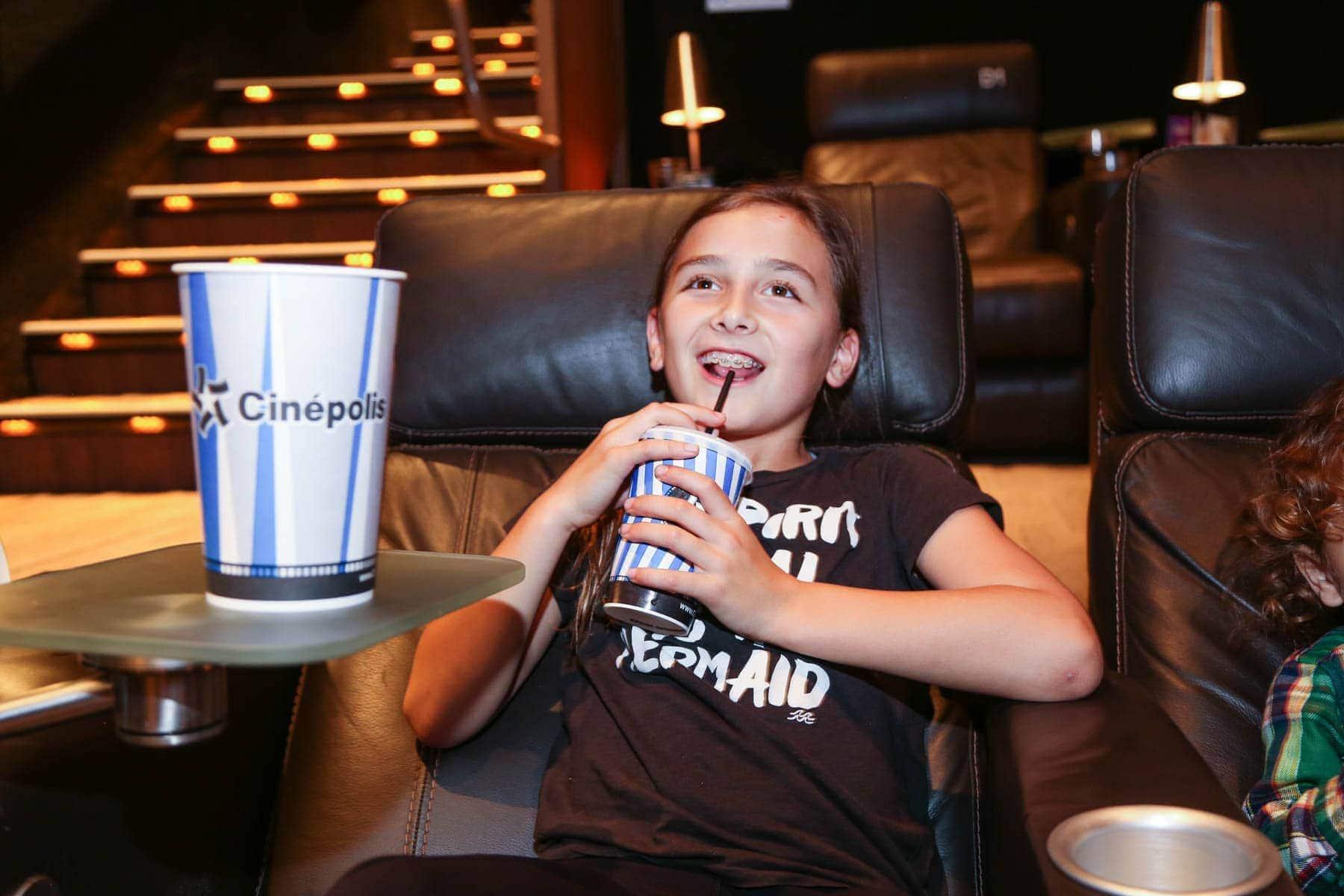 Happy Kid Watching a Movie #movienight #cinepolis #familybonding #familylove