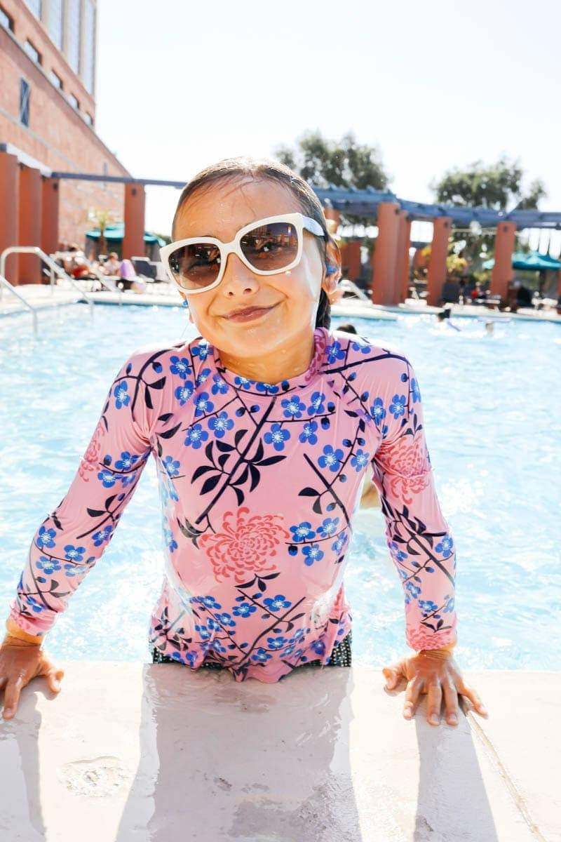 Kid at the pool #citygirlgonemom #hyattregency #lajollasandiego #lajolla