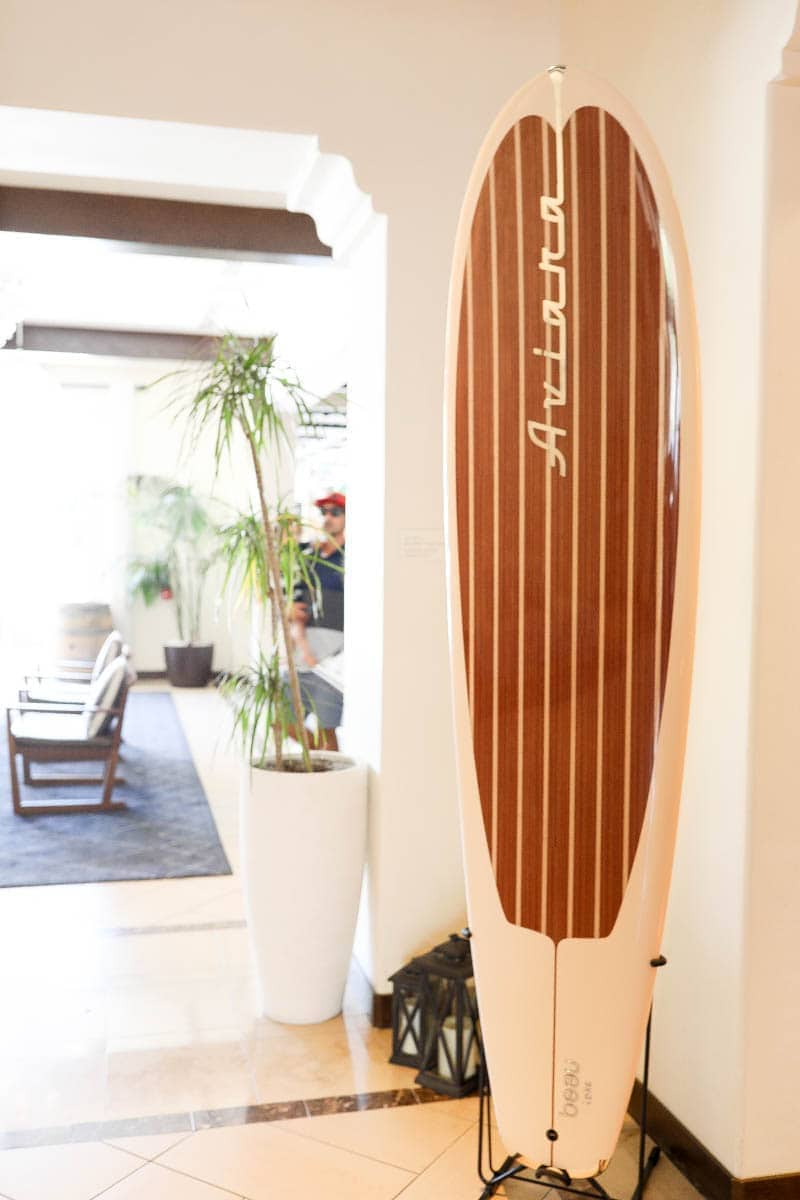 Surf Board as an Interior Design #familytravelsandiego #sandiego #fourseasonsresidenceclub #bigfamilytravel