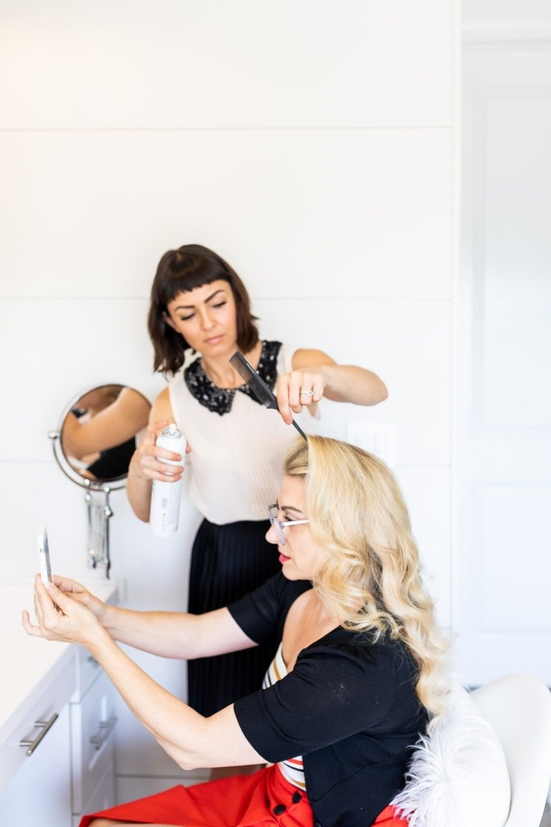 How To Create A Vintage Wave Hair Style - Step 10.3 #hairstyle #pinup #pinuphair #vintagewaveshair