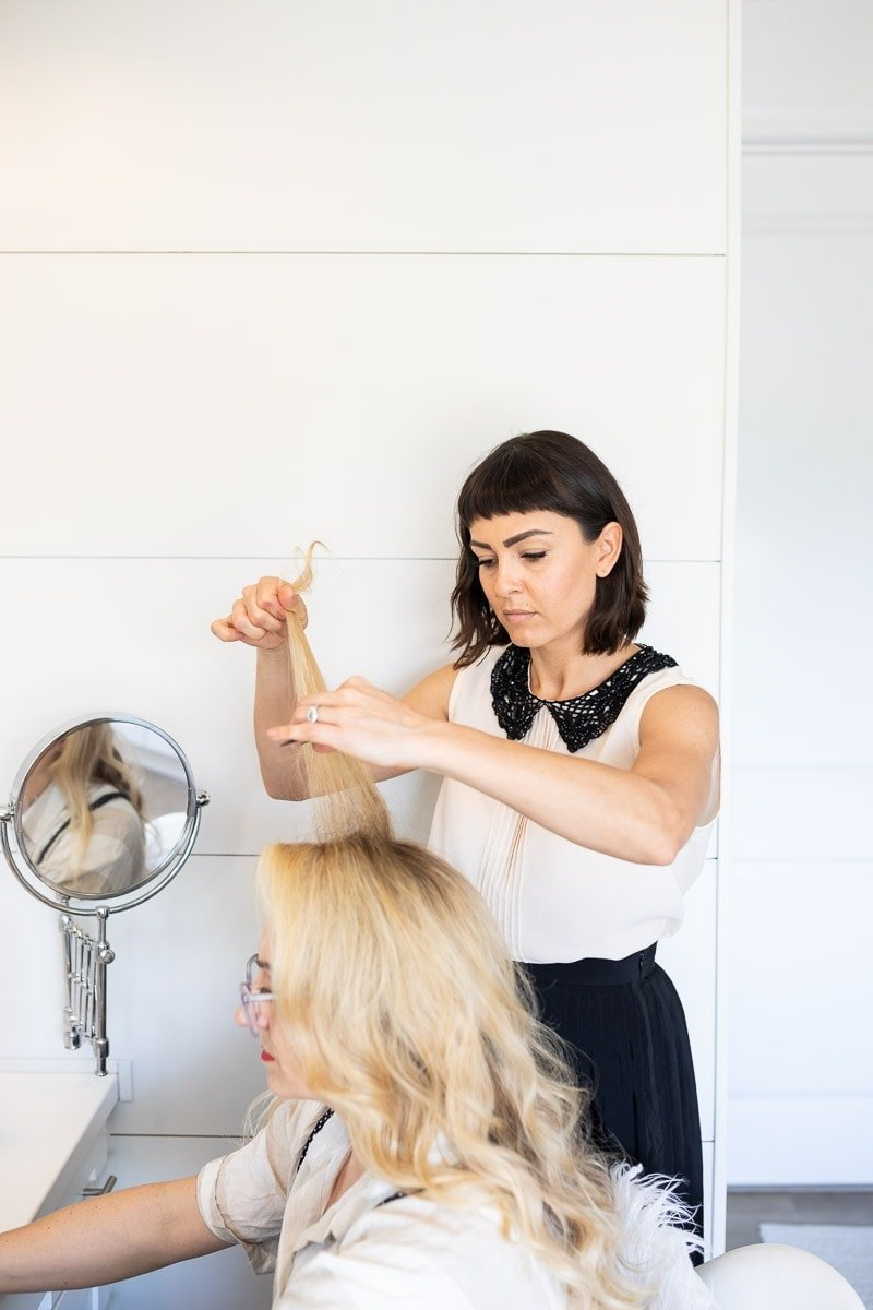 Step 1: Hairstylist Preparing the Hair for pin up #pinuptutorial #vintagehairstyle #hairstyle #citygirlgonemom #hairstyle #hairstyling #vintagewaves #vintagelook #hair