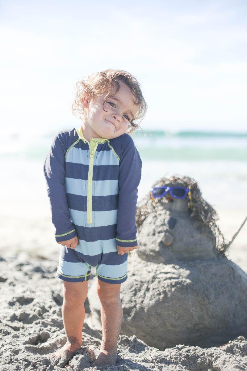 Cute Kid with Sand Sculpture #kids #summertips #summerparentingtips #citygirlgonemom