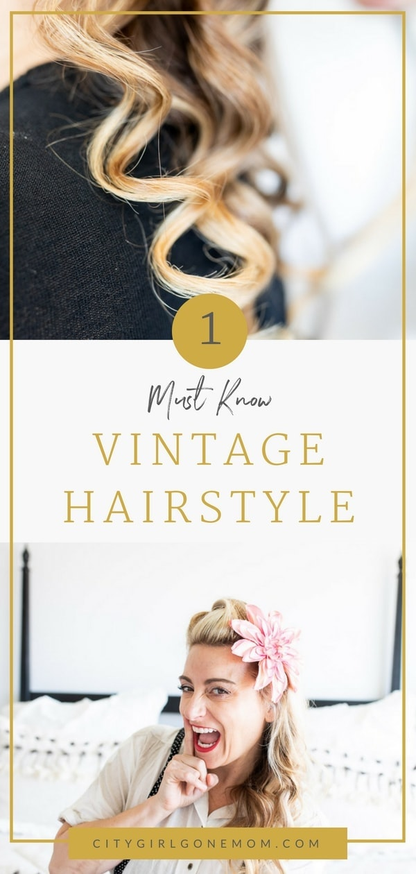 Pin Up Hair Styles Are On The Rise, And You Too Can Learn In Thus Step By Step Tutorial With A Former Pin-Up Model #vintagehairtutorial #vintagehair #pinuphair #easypinuphair #vintagestylehair #vintagepinuphair #citygirlgonemom