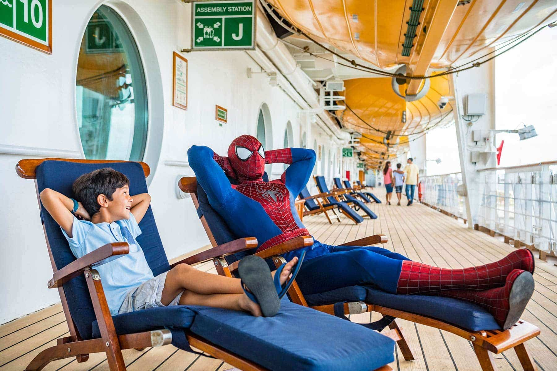 Spiderman on disney cruise