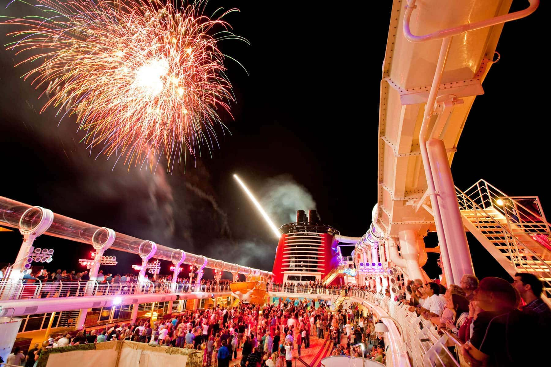 fireworks on Disney cruise