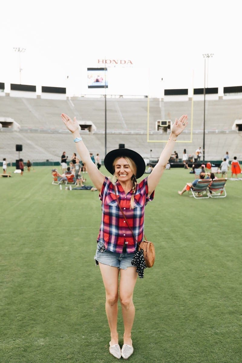 citygirlgonemom at the rose bowl stadium