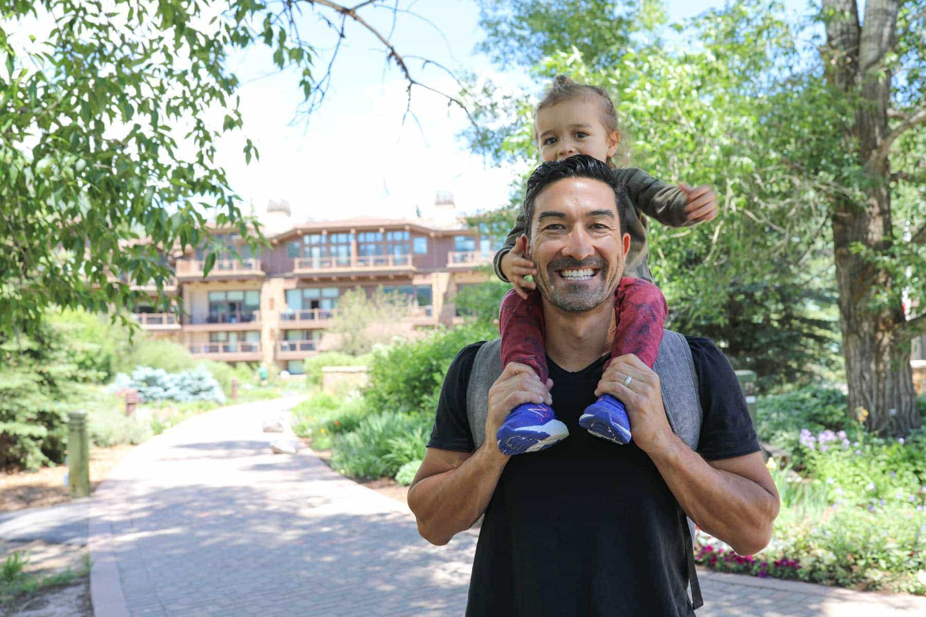 Dad and a Happy Kid #summer #vailcolorado #vacation #citygirlgonemom