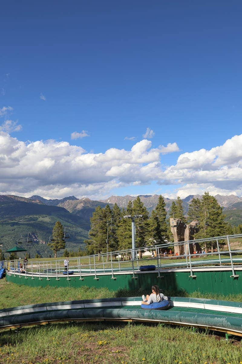 Photo Of a Girl on a Summer Tubing #summer #vailcolorado #vacation #citygirlgonemom