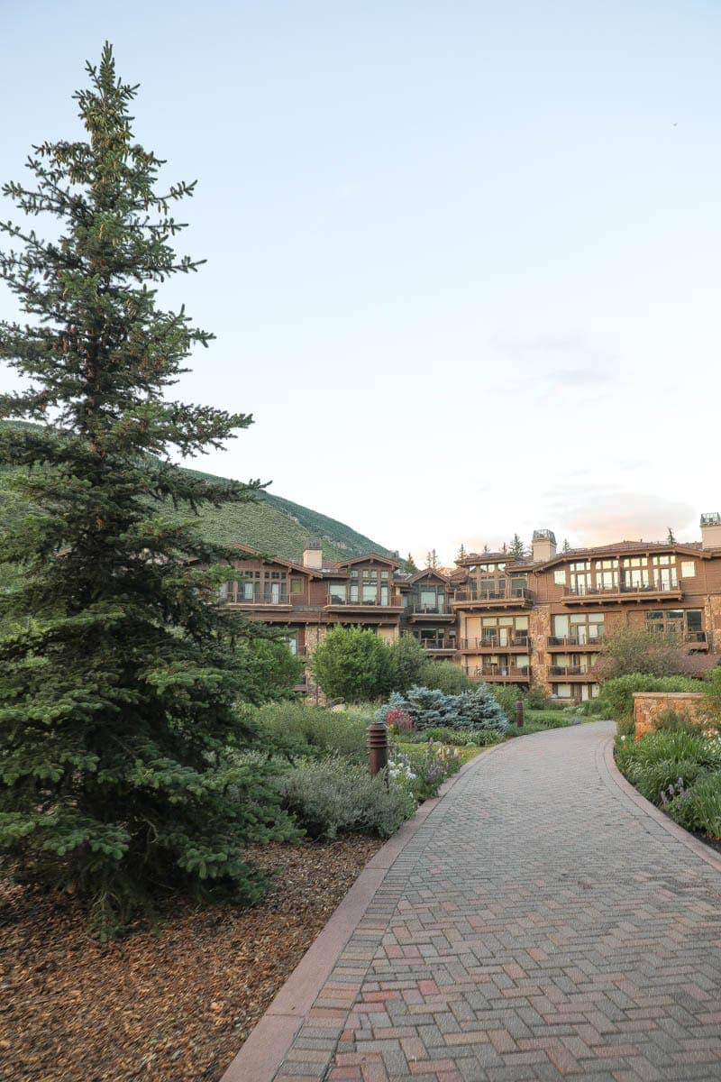 View of the Manor Vail Lodge #summer #vailcolorado #vacation #citygirlgonemom