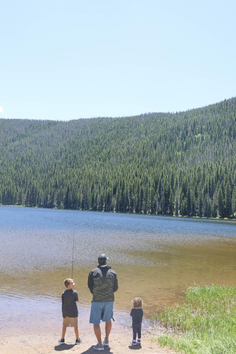 kids fishing piney river ranch