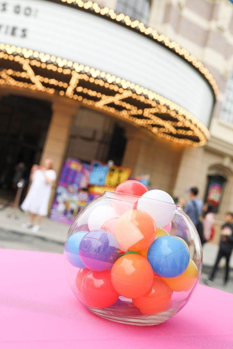 Colored Balls in a Bubble Bowl #hollywood #warnerbrothers #teentitansgotothemovies #citygirlgonemom