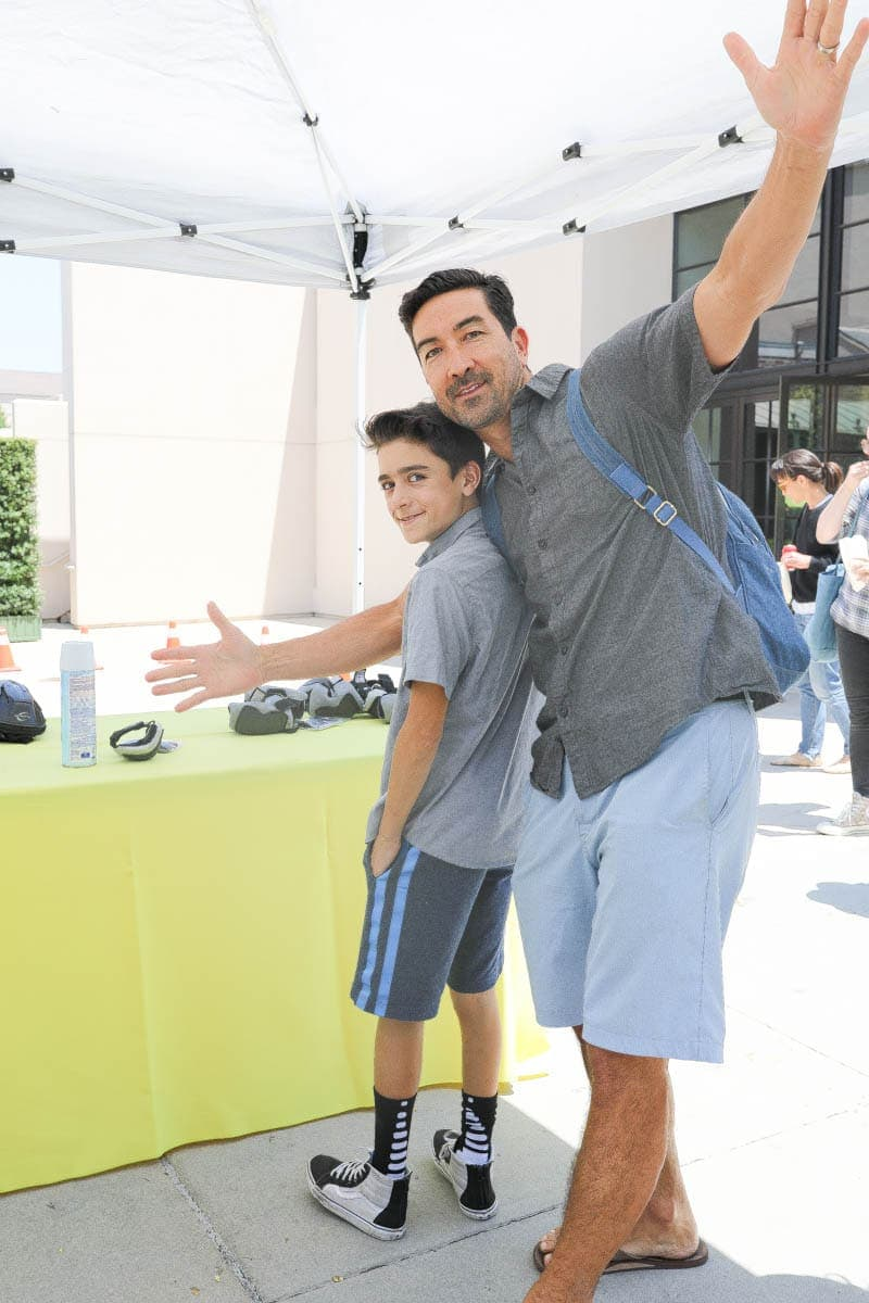 Photo of Father and Son at the Warner Bros Studios #hollywood #warnerbrothers #teentitansgotothemovies #citygirlgonemom