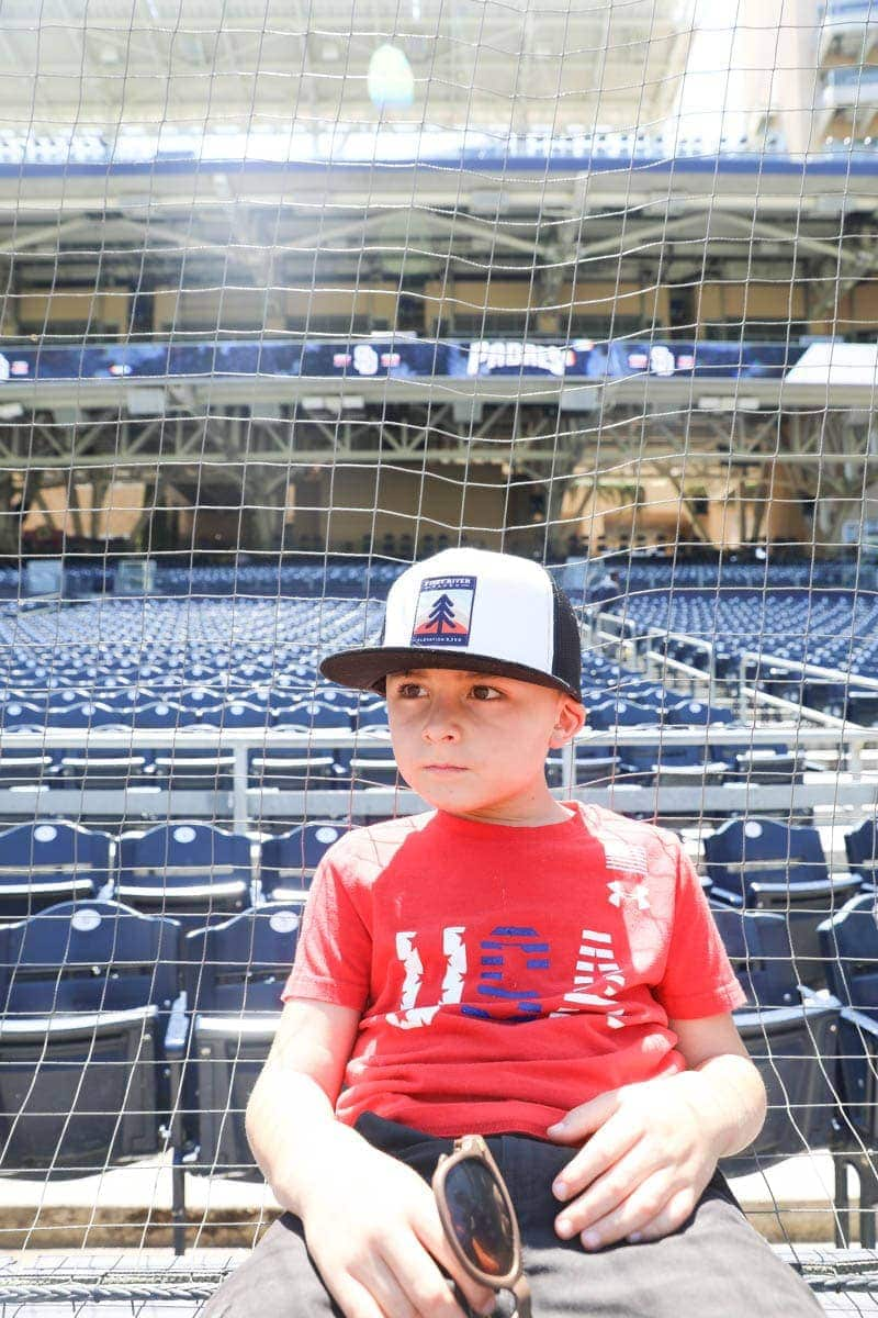 Kid at the Baseball Stadium #familyday #family #weekend #familydaysout #citygirlgonemom #baseball