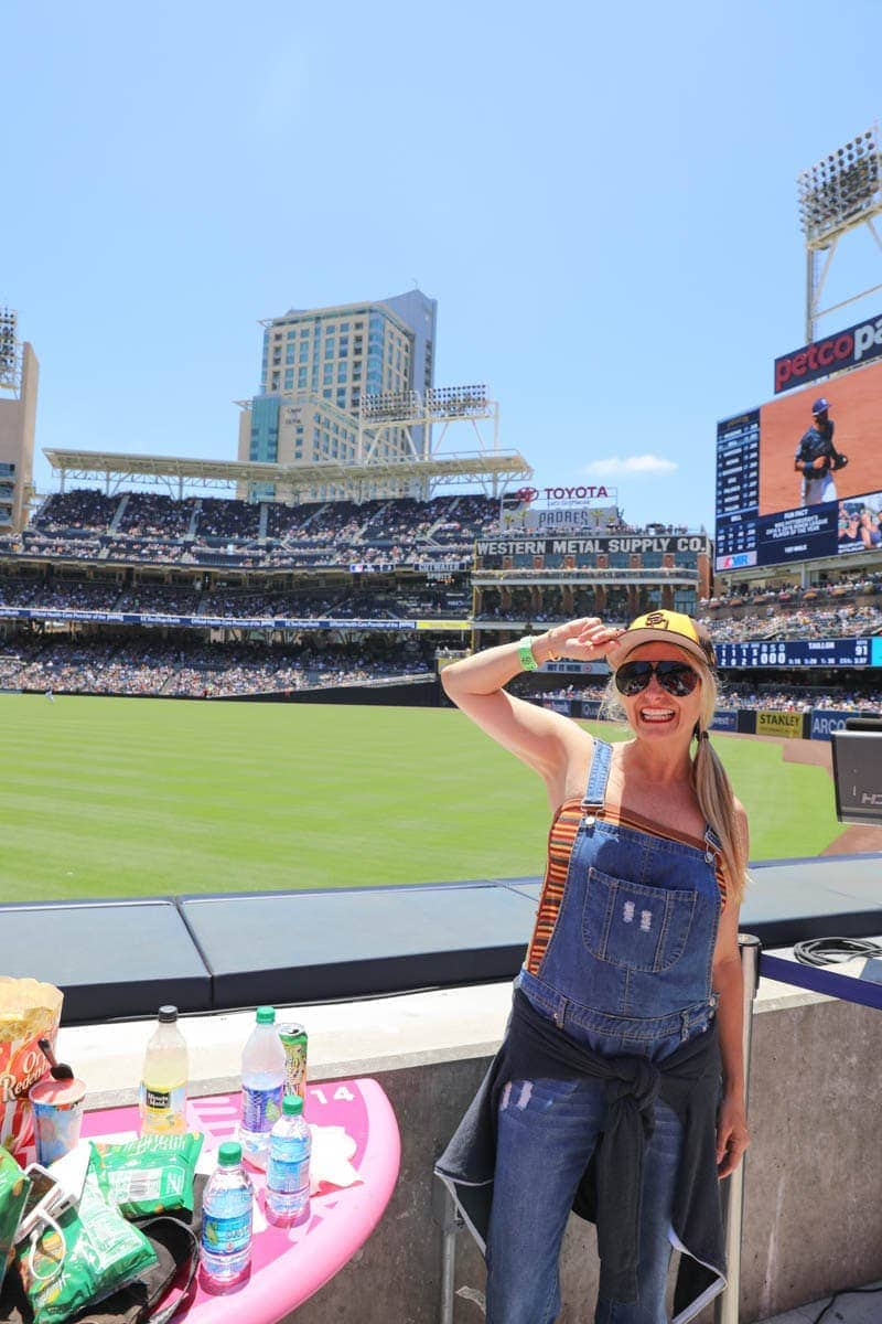 Woman with a Cap inside the Stadium #familyday #weekend #familydaysout #citygirlgonemom