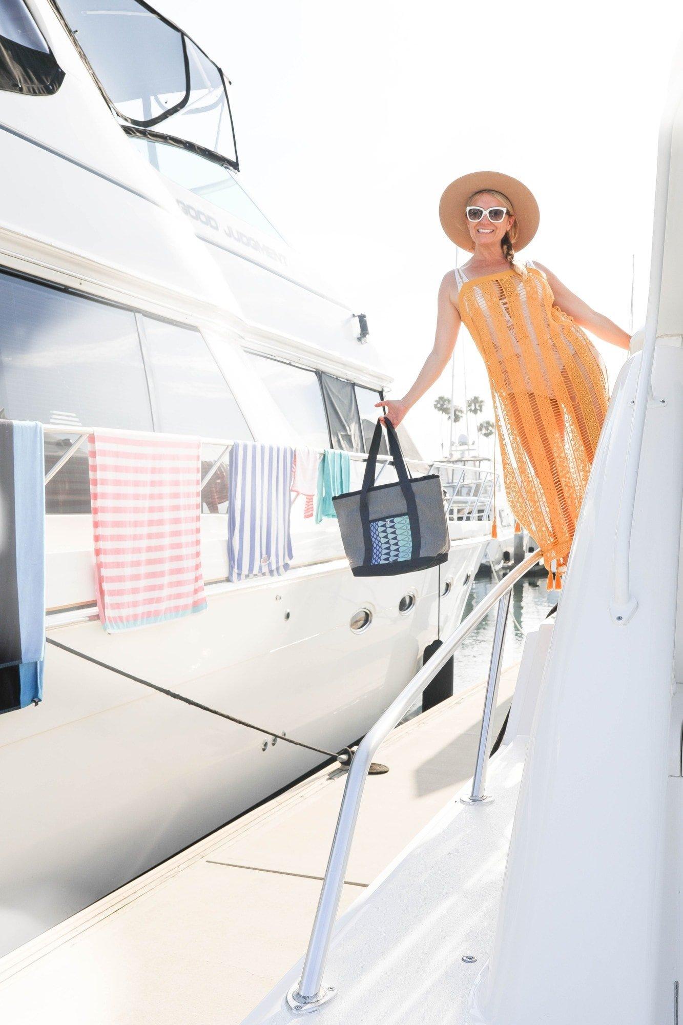 citygirlgonemom on a boat