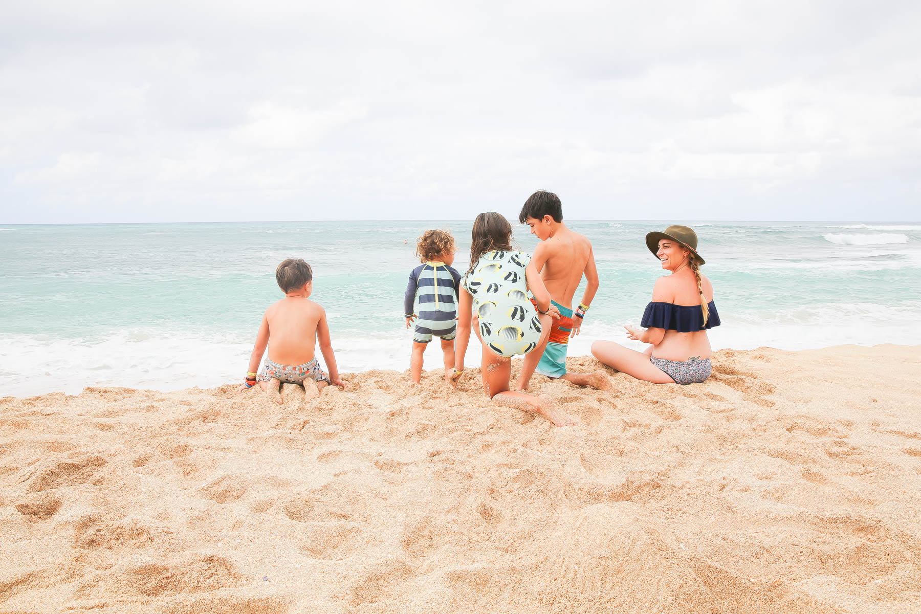 Hawaii beach with family