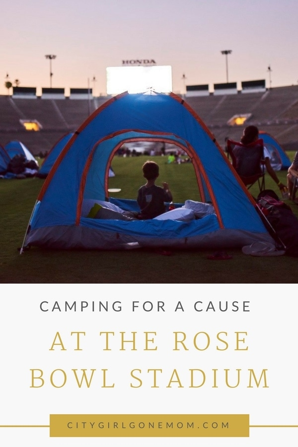 Childhood Cancer is an awful diagnosis. All kids deserve a night to remember and that's exactly what Northwestern Mutual did for their night to remember at the Rose Bowl Stadium! #childhoodcancerawareness #rosebowlstadiumcampout #campoutforkids #cancerawareness #rosebudscampout #rosebowlstadium #pasadena #california