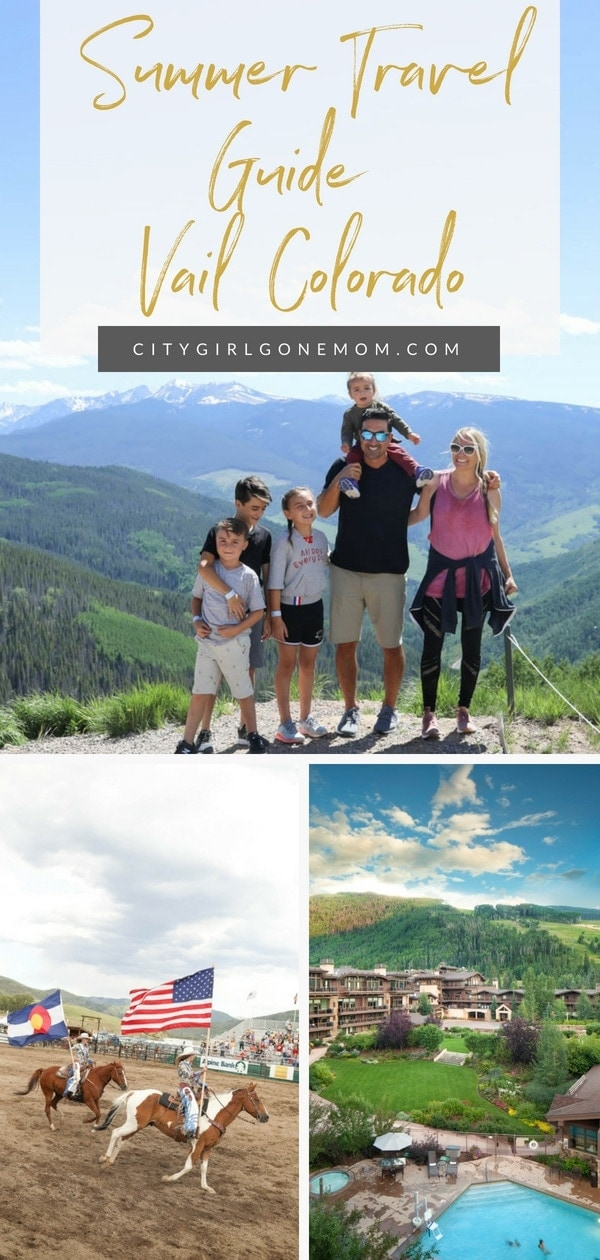 Elevate your family travel in Vail Colorado! Everything you need to know in this travel guide! #vailcolorado #summerinvailcolorado #summerfamilytravel #coloradosummer #bigfamilytravel #vailhotels #citygirlgonemom #thinstodoinvailcolorado