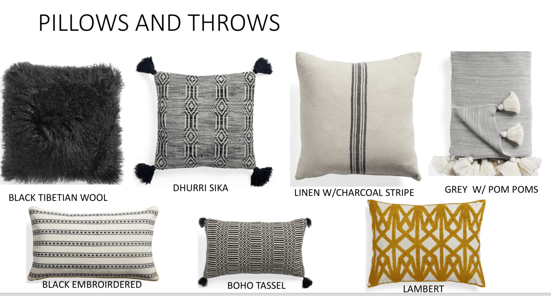 pillow choices