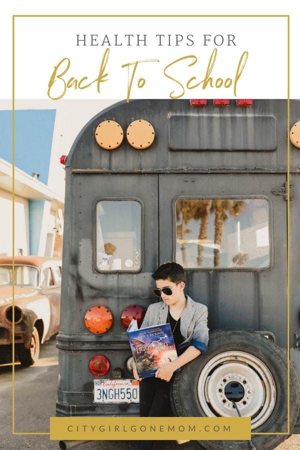 kid on school bus