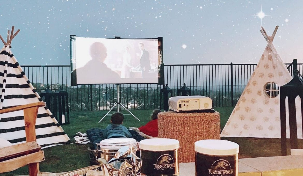 Lights, Camera, Action: Our Dino-Sized Backyard Movie Experience