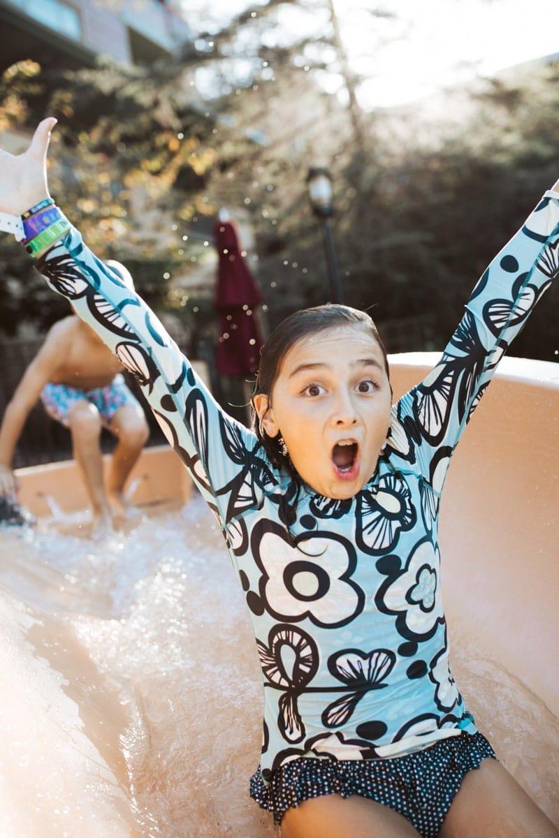 pool slide girl