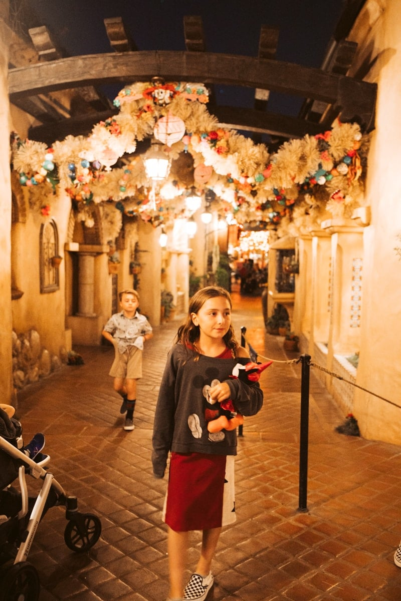 Girl at Disneyland halloweentime