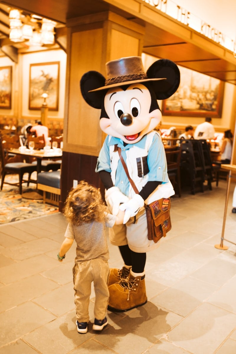 Mickey and toddler