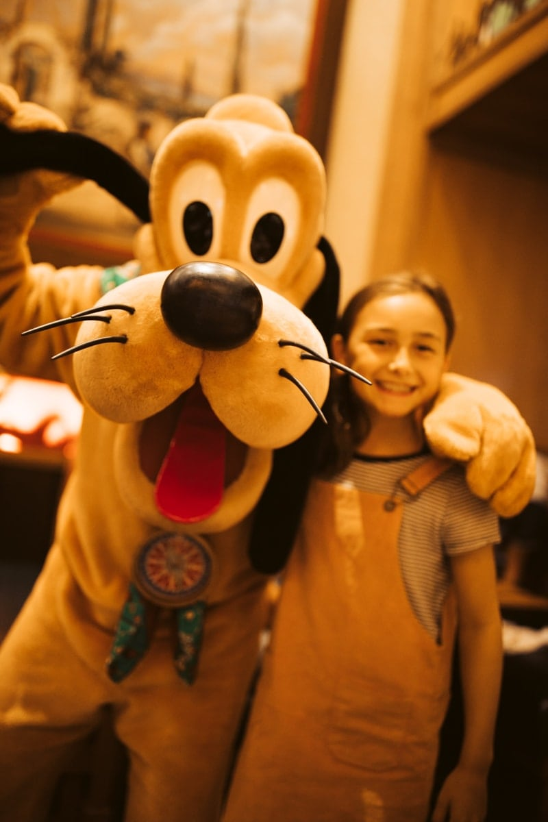 Pluto and kid