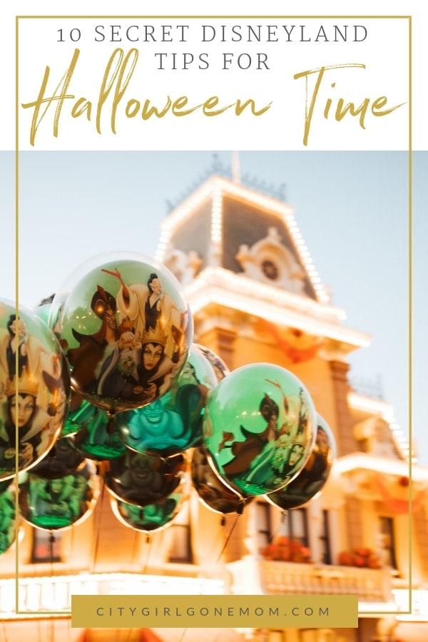 Disneyland Balloons Halloween Time