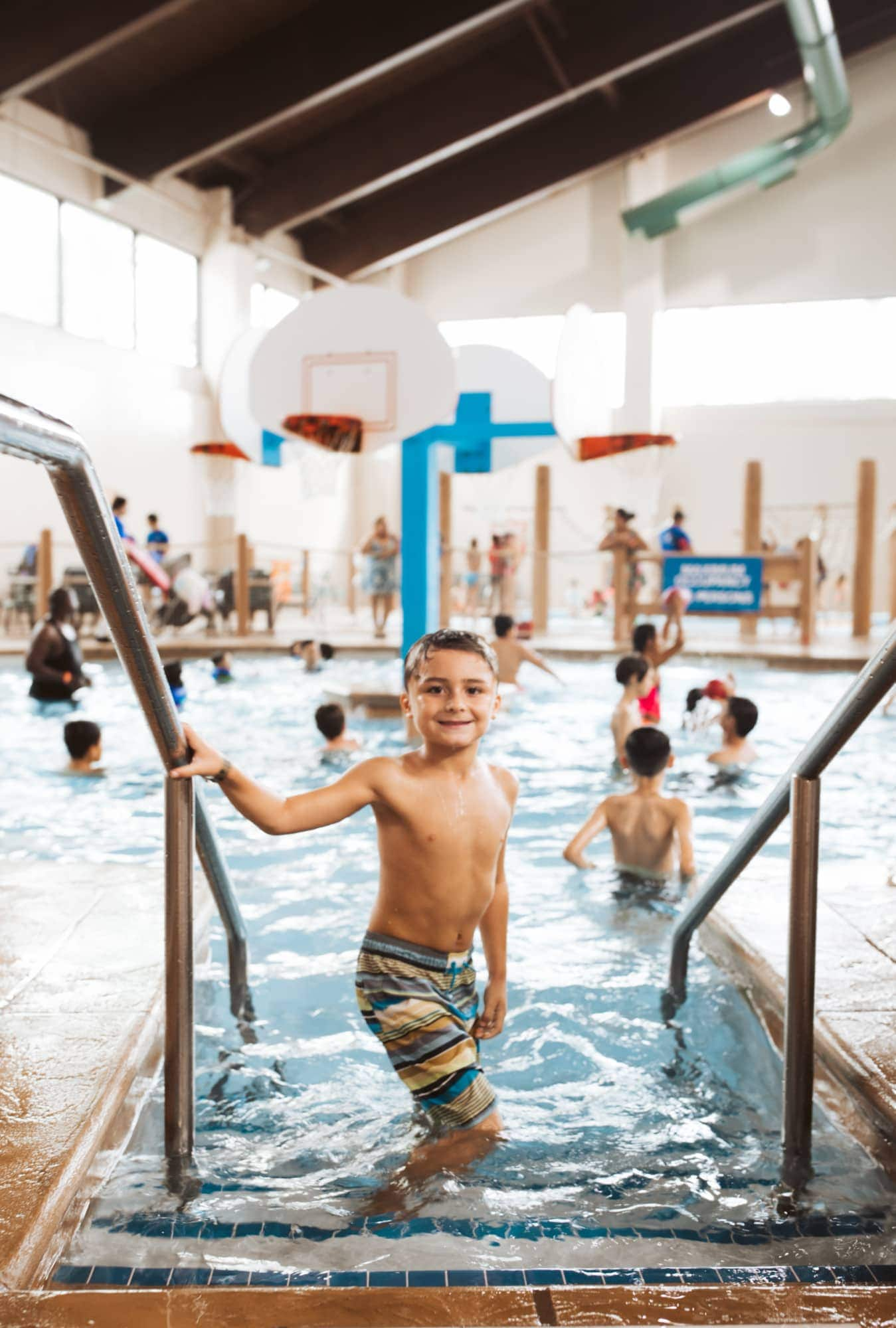 boy at great wolf lodge