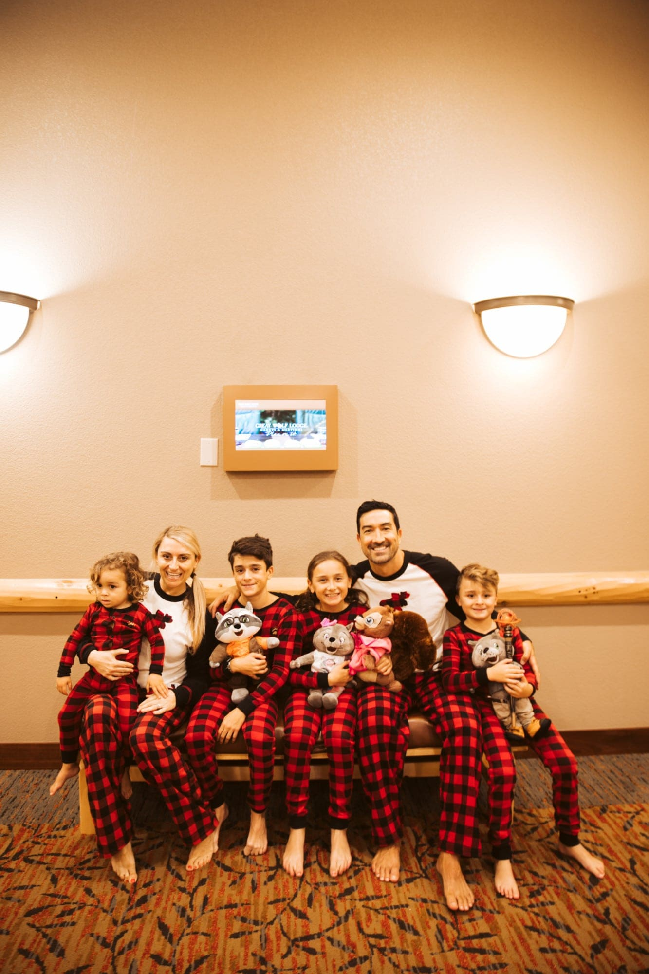 matching pajamas family