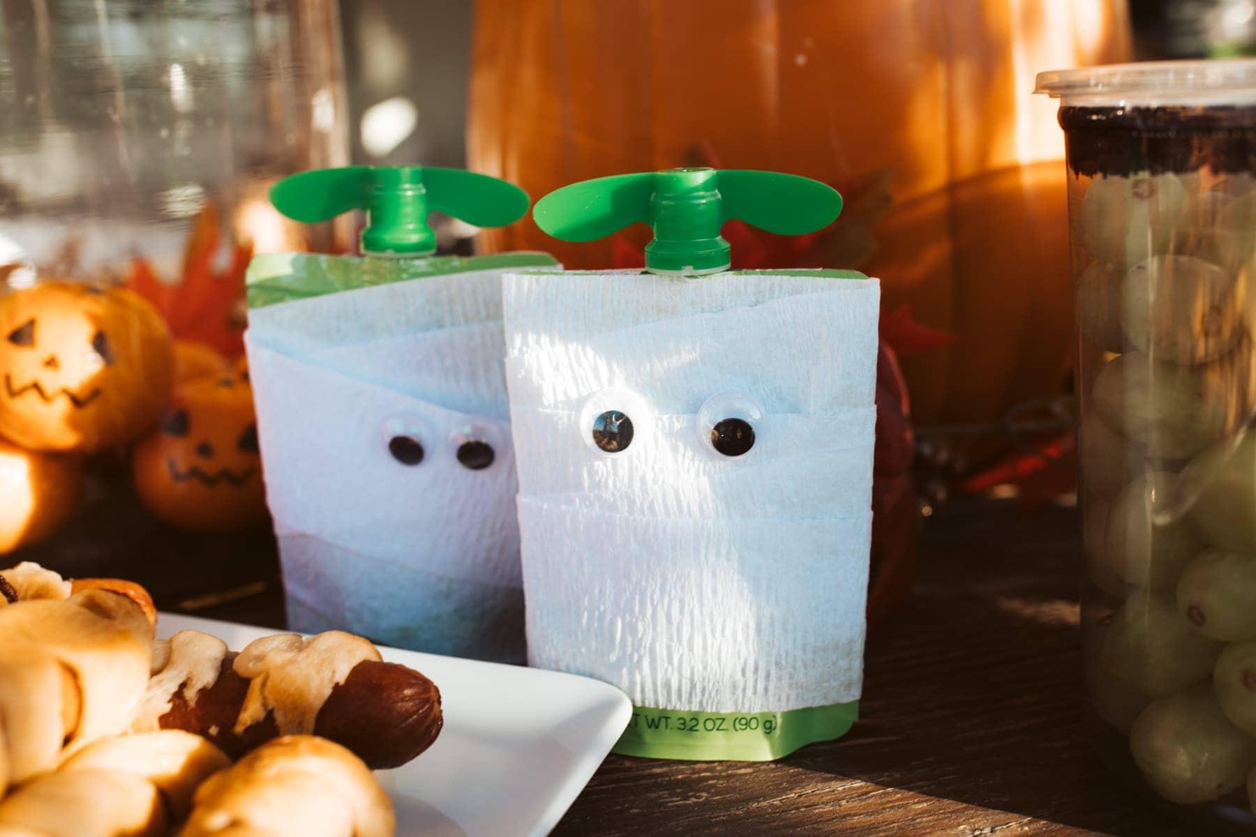 halloween mummy snack