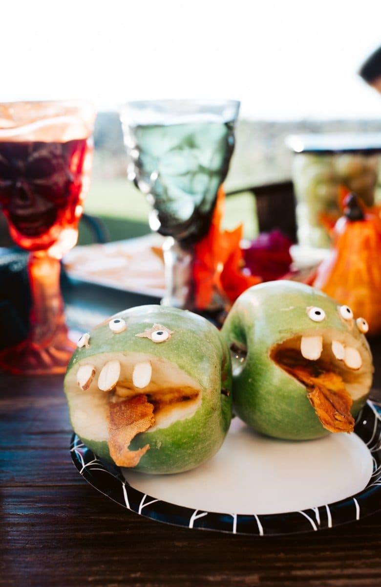 monster apples for halloween