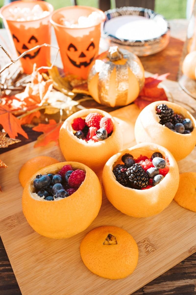 fruit cups halloween