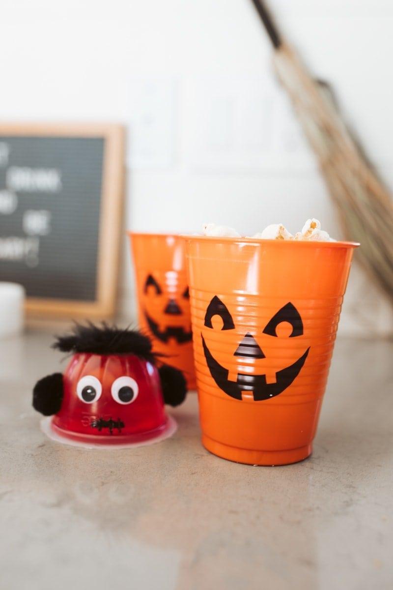 halloween fruit cups