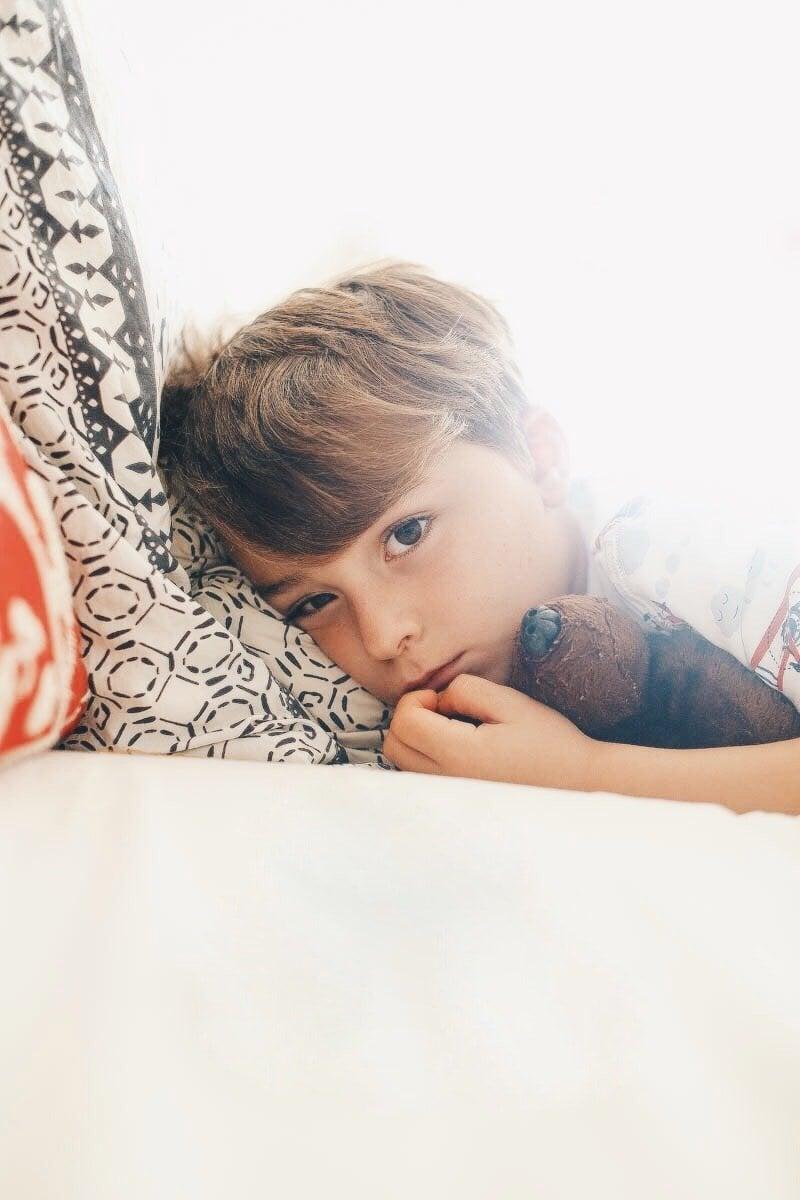 boy feeling sick