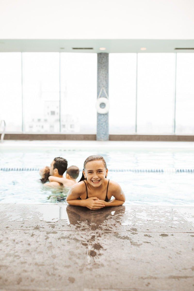 The Parker New York girl swimming
