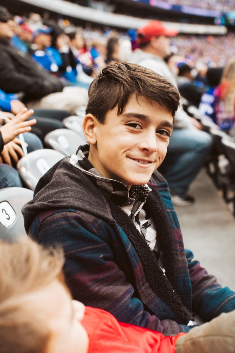 Boy at Giants Game