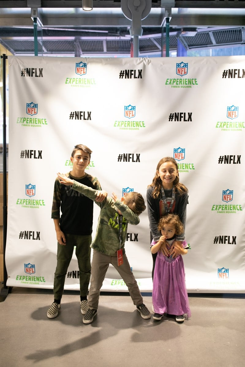 Kids at NFL Experience