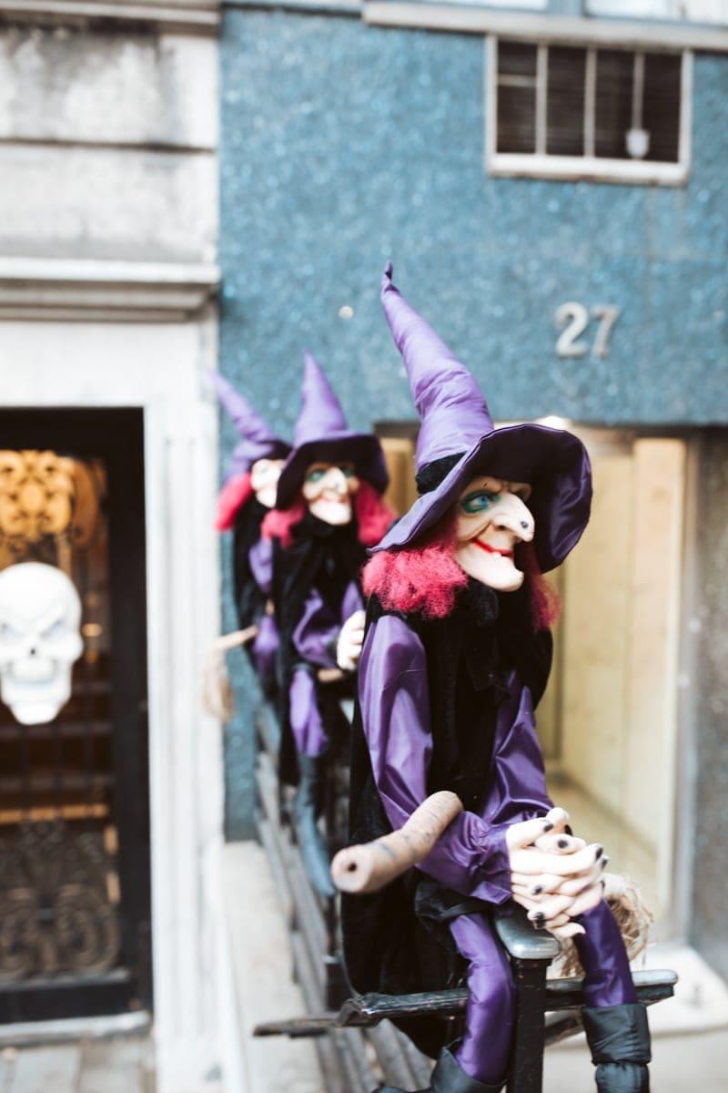 West 69th Street Halloween Decor
