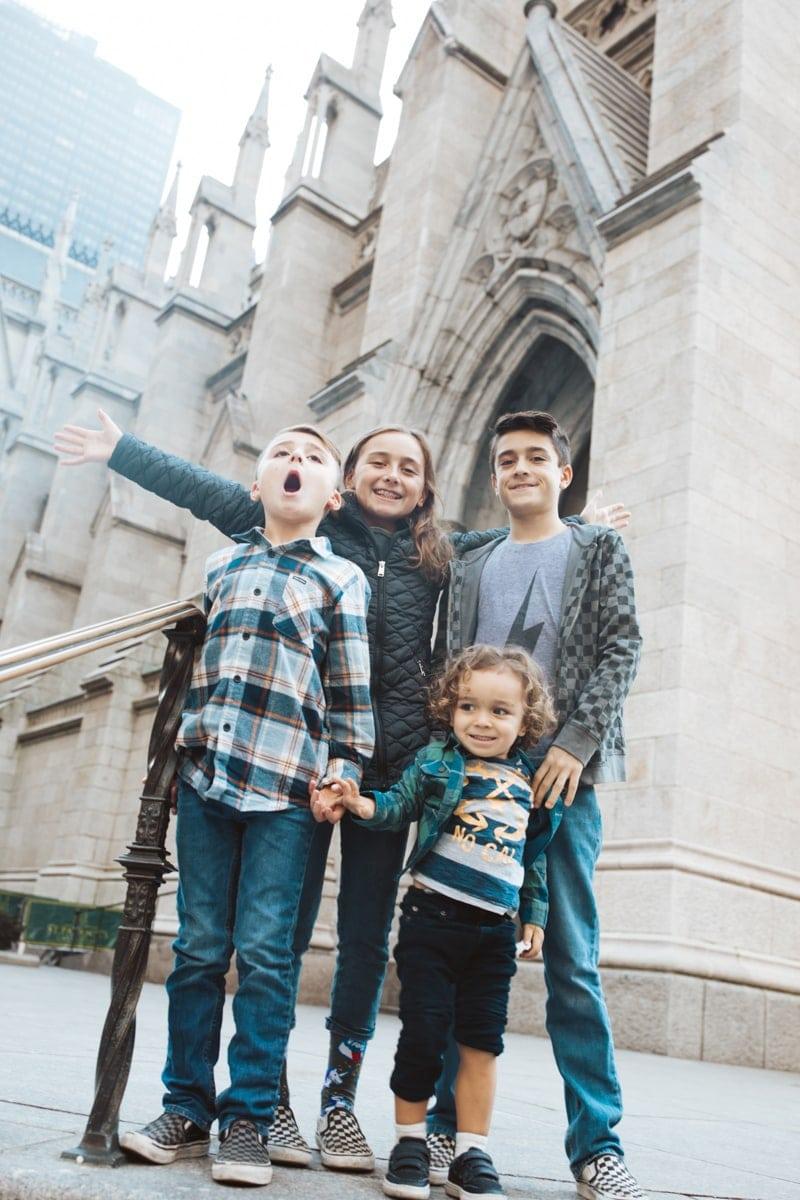 family at St. Patricks Cathedral