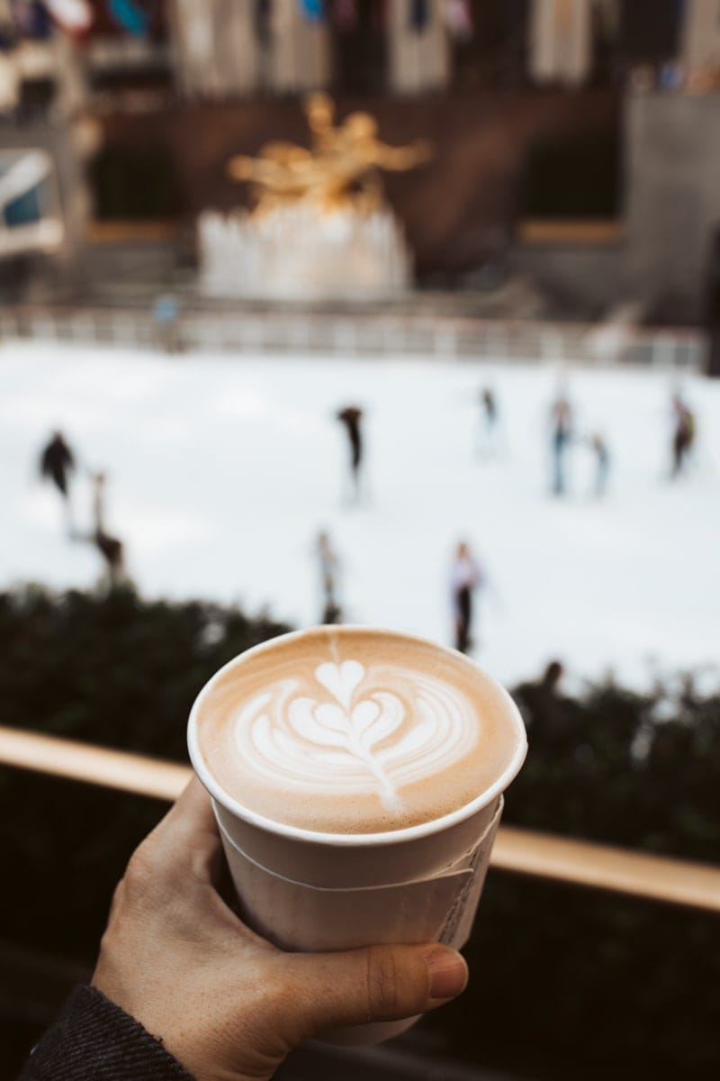 coffee at Rockefeller center ice rink