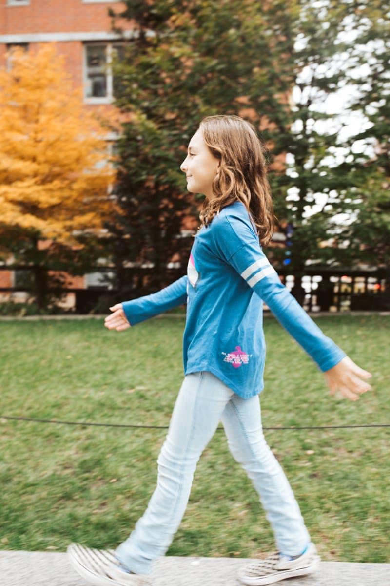 Girl Walking The High Line