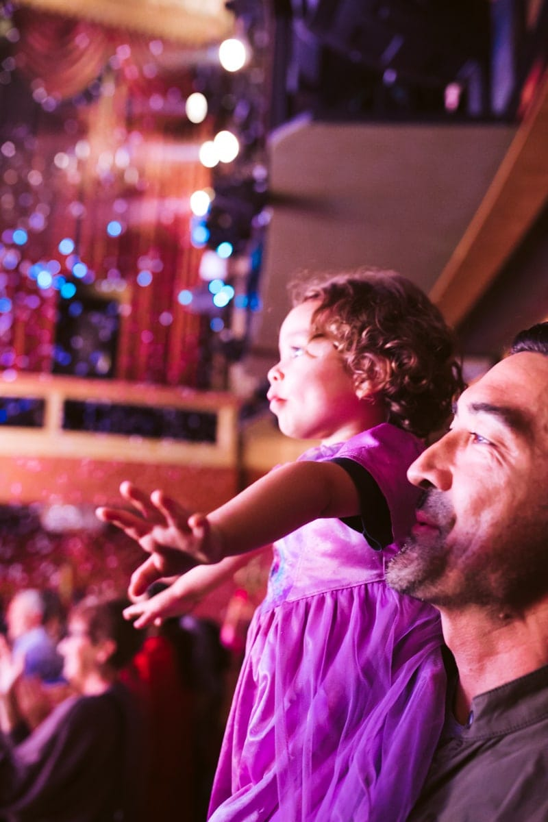 toddler at Frozen the Broadway Musical