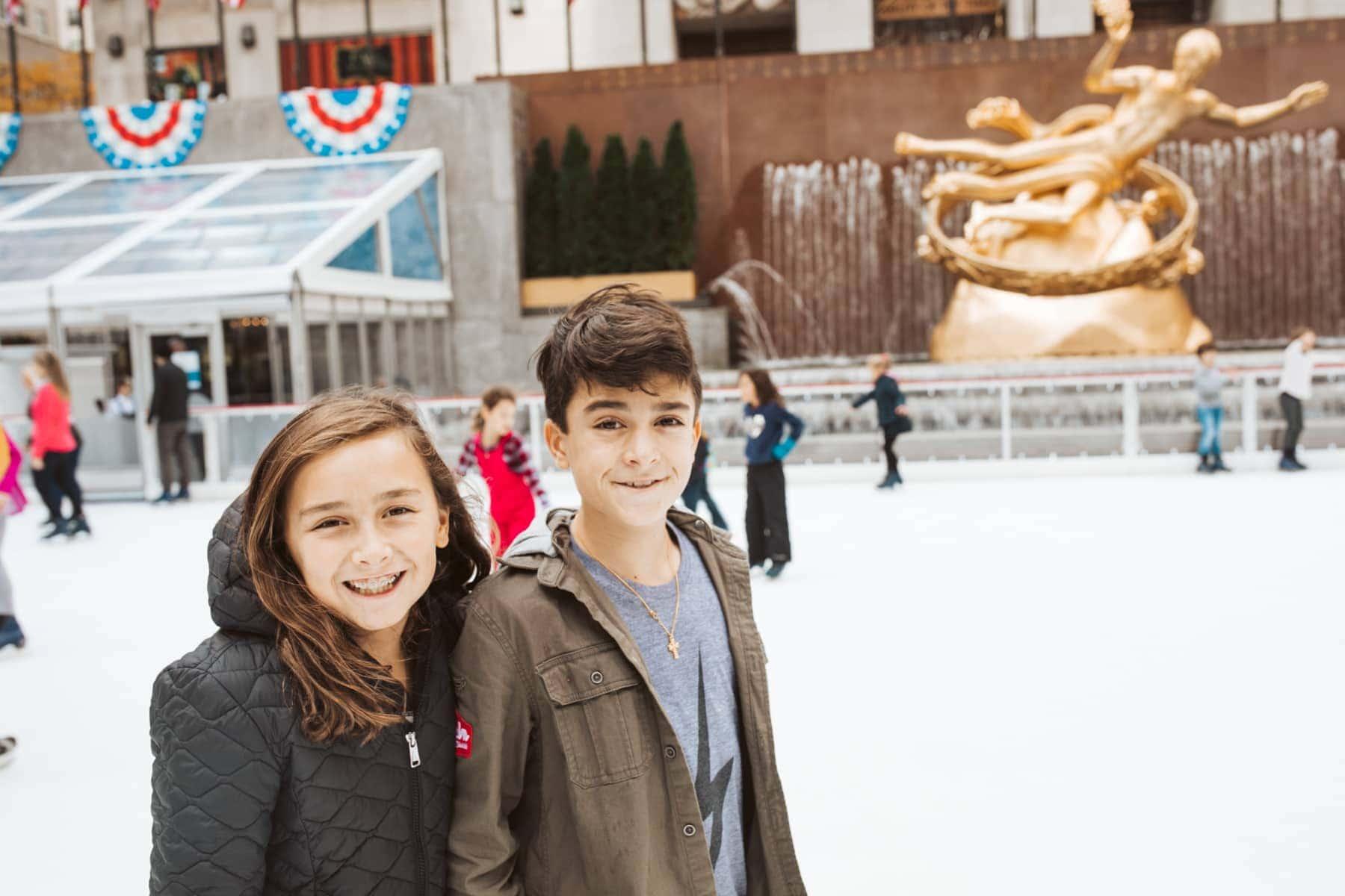 kids on ice rink