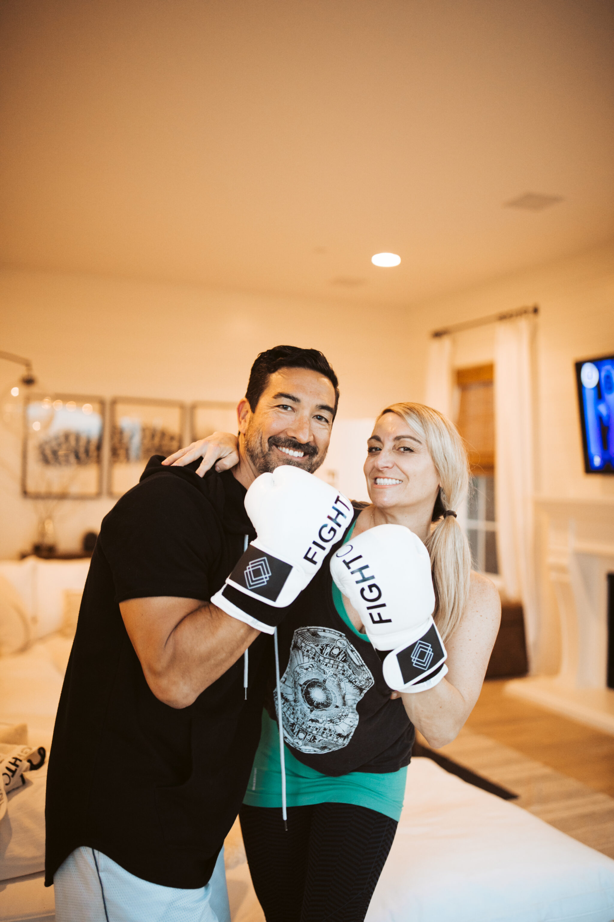 couple boxing together