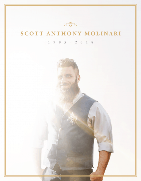 scott molinari died of an overdose