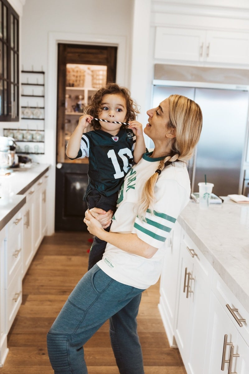 super bowl mom and son