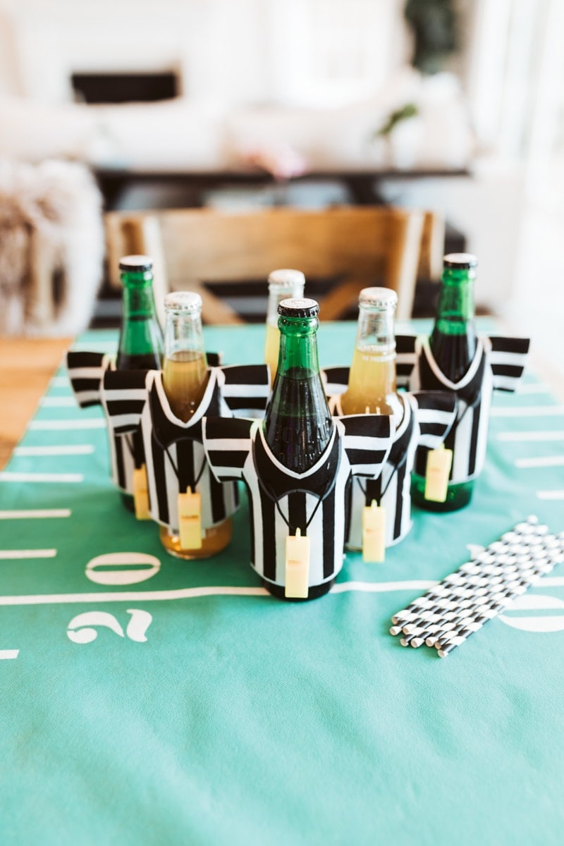 football bottle decor